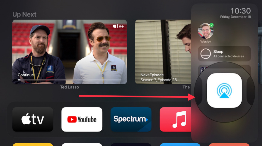 AirPlay from Control Center