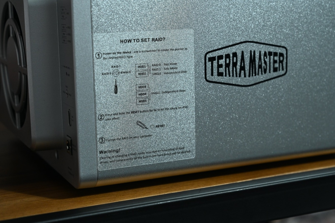Some of the TerraMaster D5-300C RAID instructions.