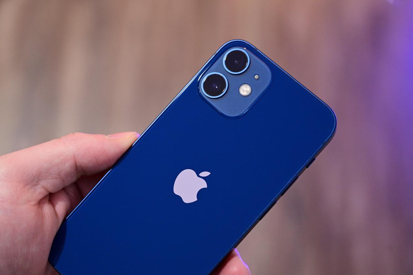 iPhone 12 mini in blue