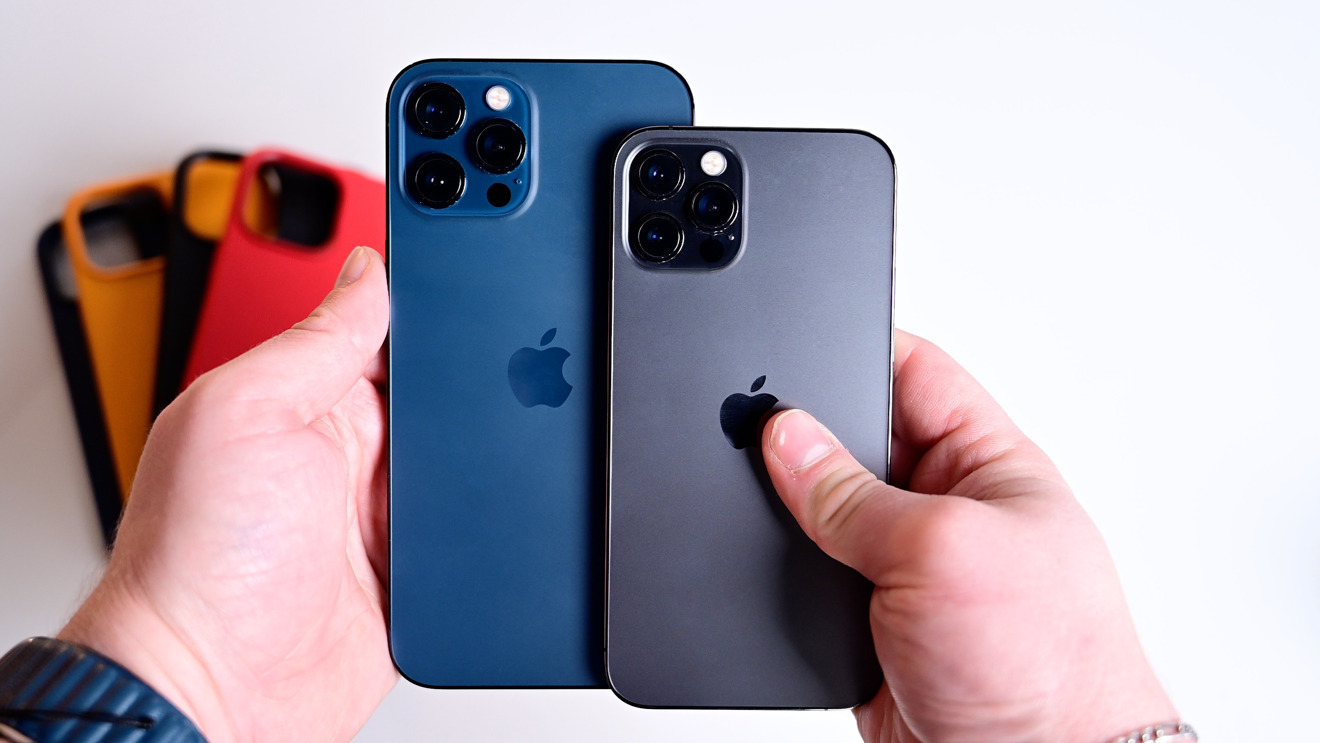 The iPhone 12 Pro Max (left) is a significantly larger phone than the iPhone 12 Pro