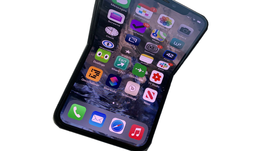 A future iPhone may have a folding display