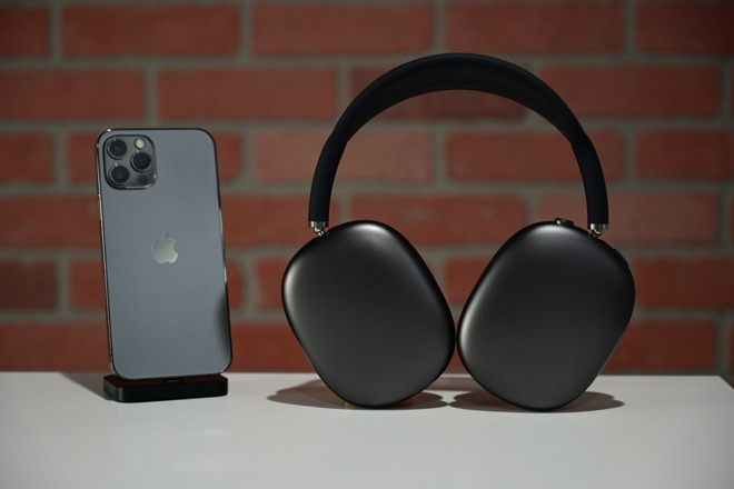 AirPods Max next to iPhone 12