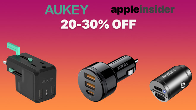 Aukey and AppleInsider have an exclusive coupon to let you save 20% to 30% on charging accessories