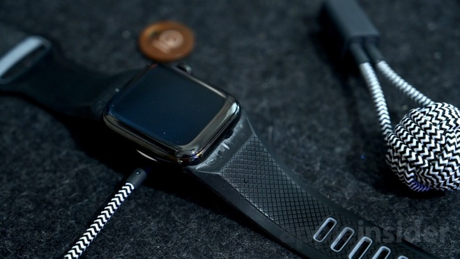 The Apple Watch uses wireless charging, but not the same as used to recharge an iPhone.