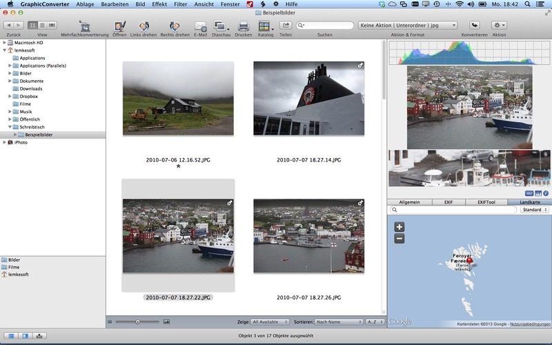 GraphicConverter isn't flashy, but it packs a full set of image management and editing features.