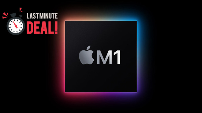 Apple Silicon M1 chip with last minute deals badge