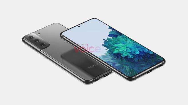 Render of the Samsung Galaxy S21 [Steve Hemmerstoffer, OnLeaks]