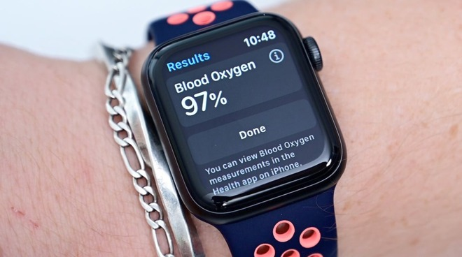 The Apple Watch Series 6 can determine blood oxygen levels.