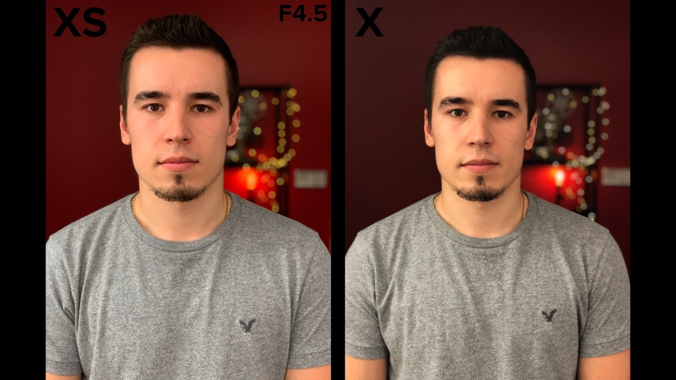 Improved Portrait Mode shooting on the iPhone XS (left) vs. the iPhone X