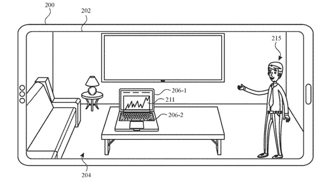 Detail from the patent showing an Apple Store Personal Shopper demonstrating in your home