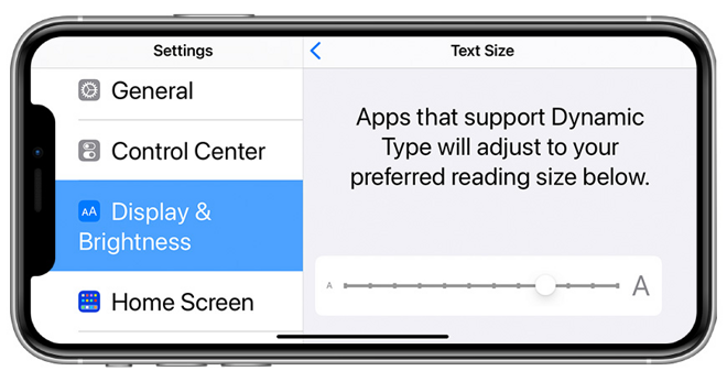 How to make text bigger on an iPhone