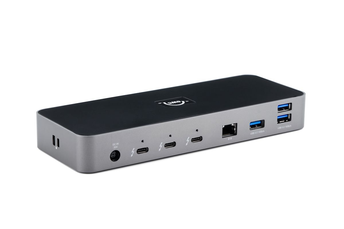 The Thunderbolt 4 Dock features a plethora of ports that connect to a Mac or PC via Thunderbolt.