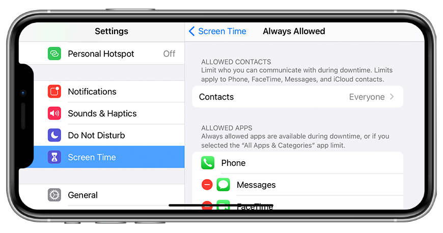 Parental controls can allow children access to both phone and messaging, while restricting tempting games and browser access
