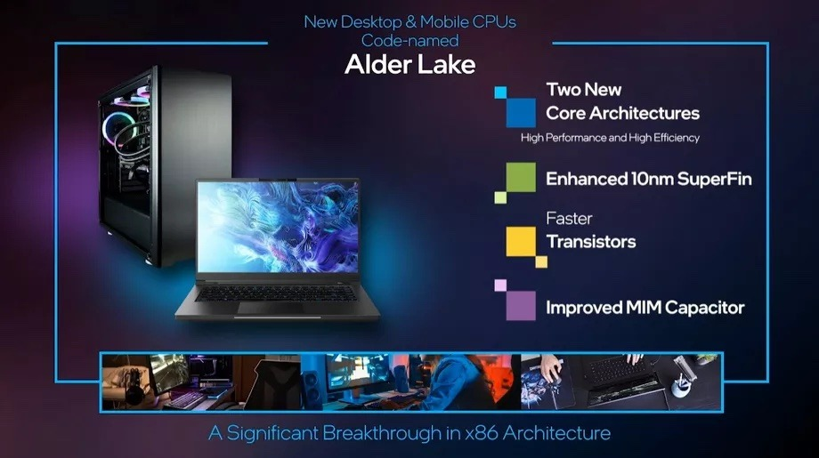 The first computers with Alder Lake chips are set to debut as soon as the second half of 2021. Credit Intel