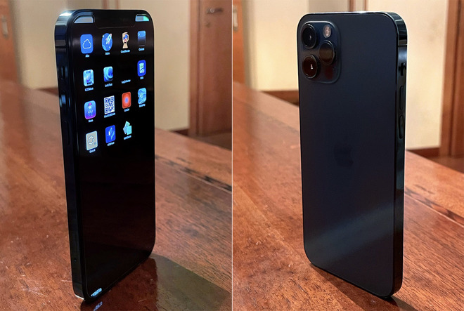 Images of alleged prototype iPhone 12 Pro in Pacific Blue leak online