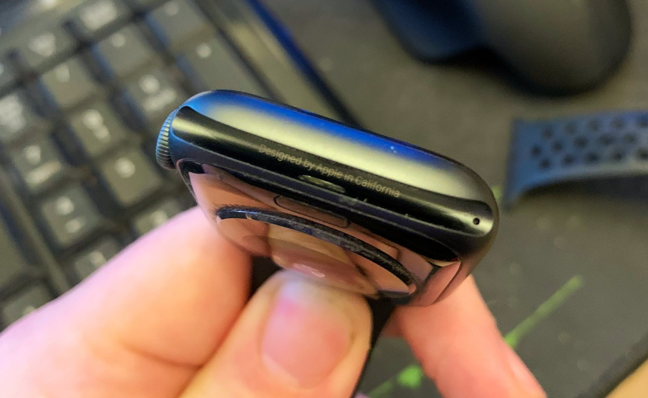 The Apple Watch hides the serial number within a Band slot.
