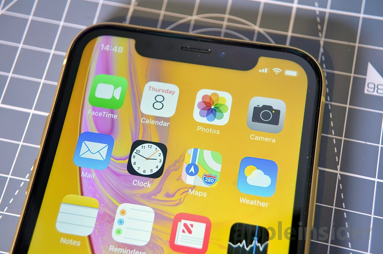 The iPhone XR has the same notch as other full-screen iPhones