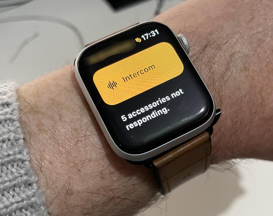 Домофон на Apple Watch.  Мы, наверное, должны разобраться с этими аксессуарами