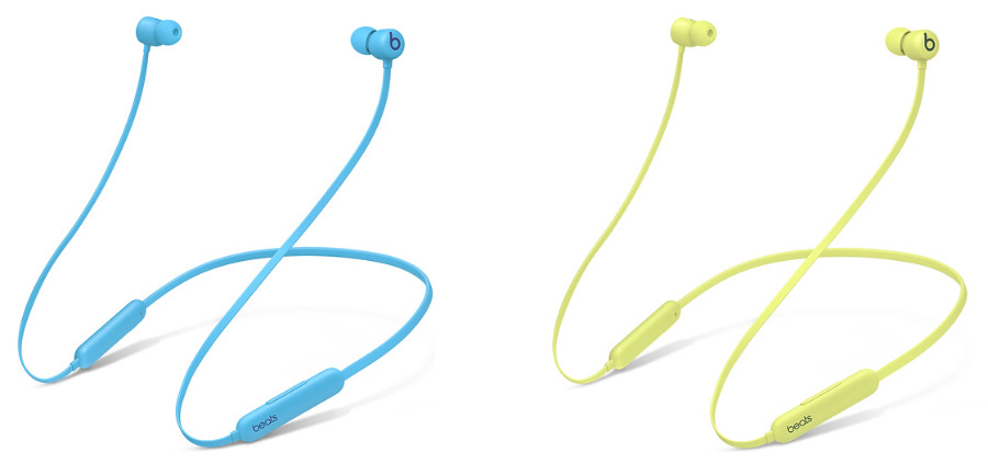 The two new colors -Flame Blue (left), and Yuzu Yellow (right)
