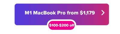 M1 MacBook Pro 13 inch $100 to $200 off button