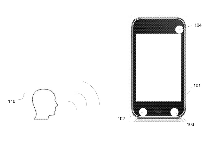 Despite this drawing in the patent, it's a bit unlikely that the original iPhone will gain the new proposed technologies
