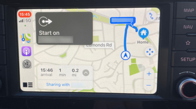 You can have CarPlay, or your iPhone, keep friends and family updated on your driving ETA