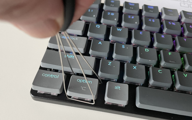 Removing a key or a key switch is particularly easy