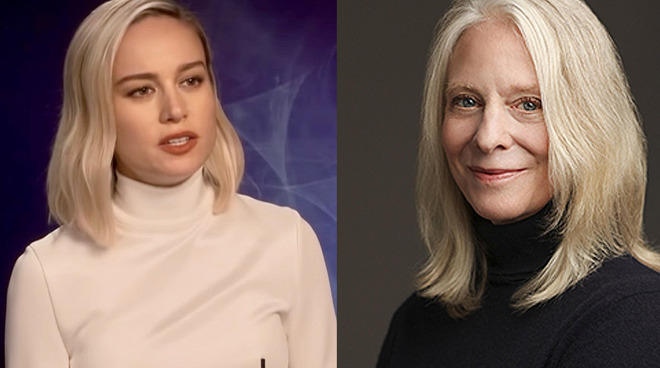 Brie Larson (left) and author Bonnie Garmus (right) | Image credit: (left) MTV International