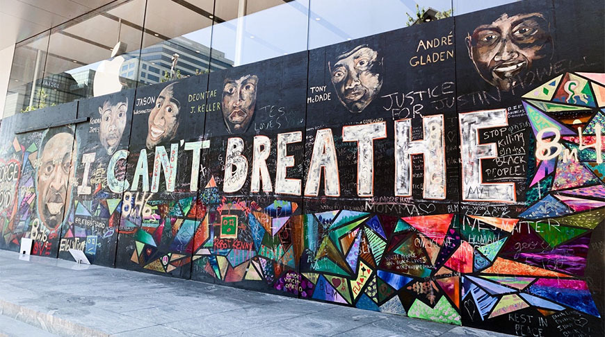 photo of Apple donates Black Lives Matter mural from Portland store to nonprofit image