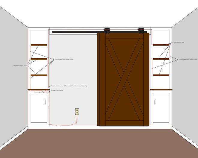 Andrew's new pantry design