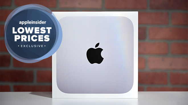 Apple M1 Mac mini with exclusive lowest prices badge