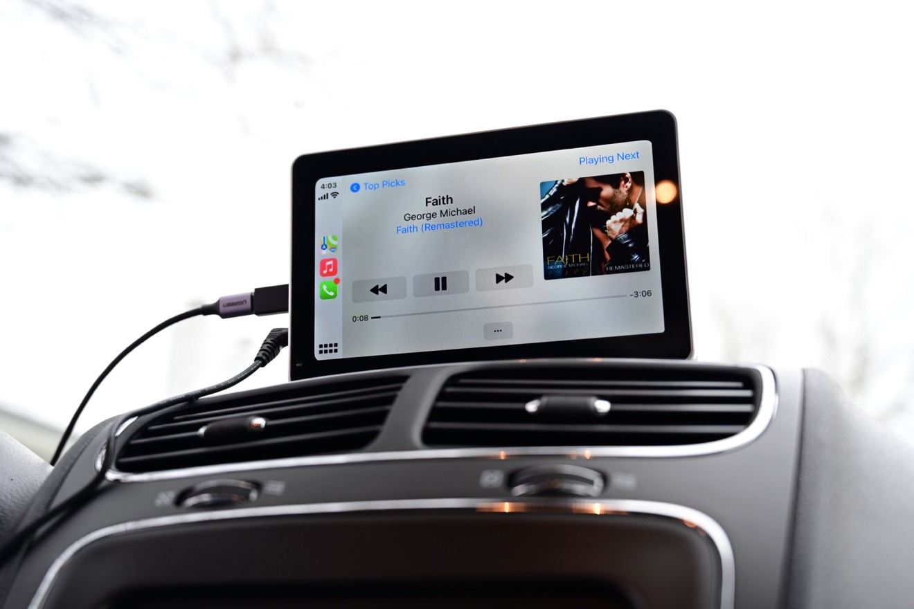 Apple Music играет через CarPlay на колонках Intellidash +