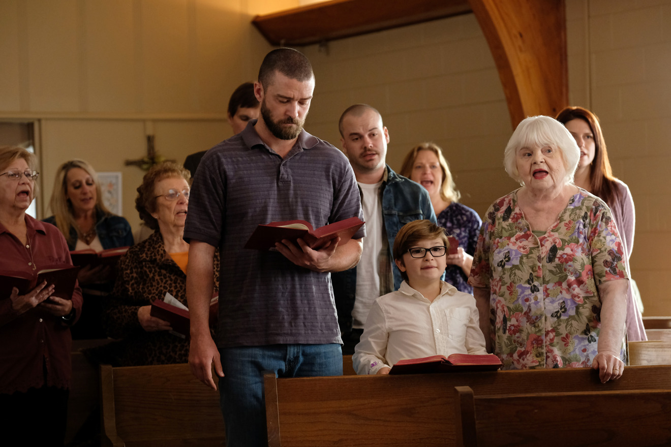 Justin Timberlake, Ryder Allen and June Squibb in