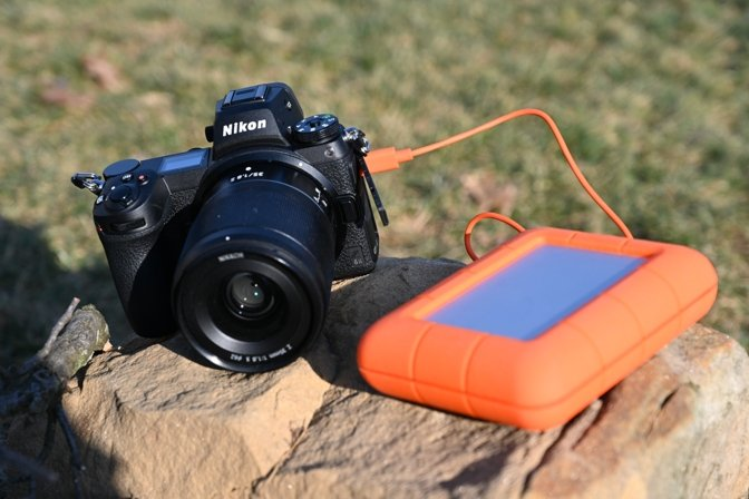 Pulling images off the Nikon Z6II to the LaCie BOSS SSD