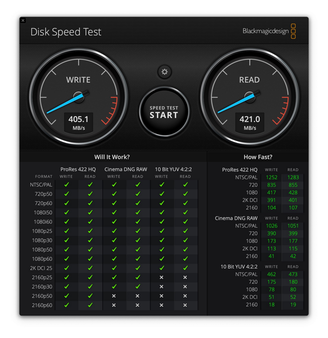 LaCie BOSS SSD transfer speeds