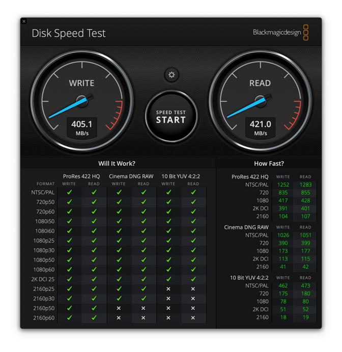 LaCie BOSS SSD transfer speeds