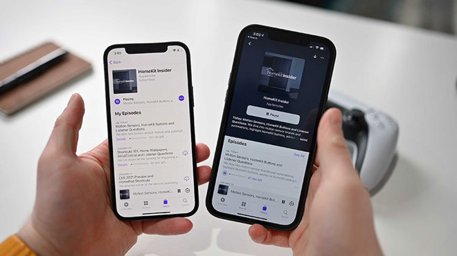 iOS 14.5 beta Podcast UI
