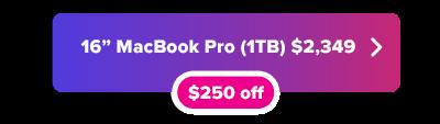 MacBook Pro 16 inch deal button
