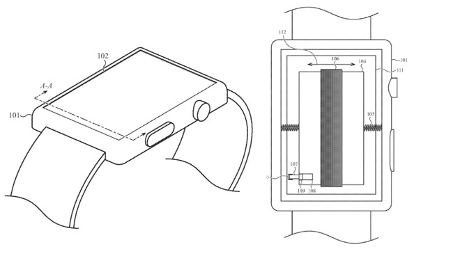 Future Apple Watches may use a battery that moves to provide haptic feedback