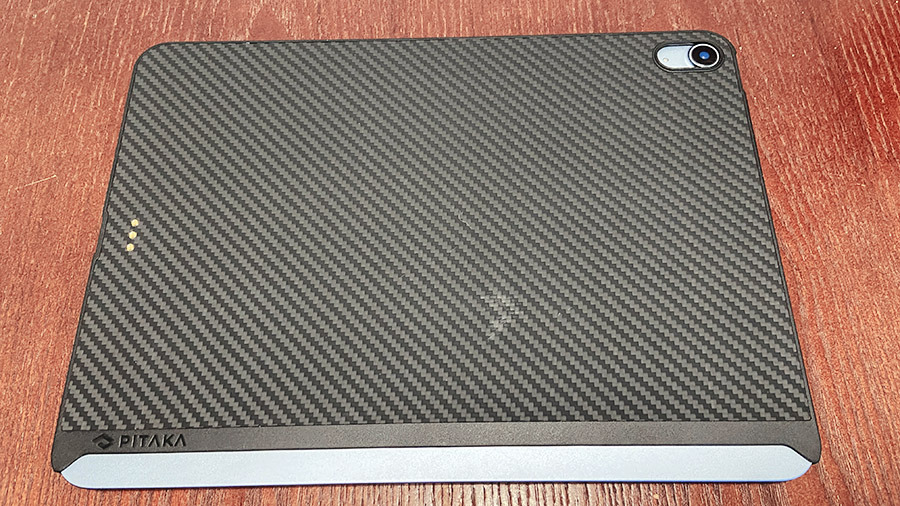 The back of the MagEZ case leaves a substantial portion of your iPad exposed