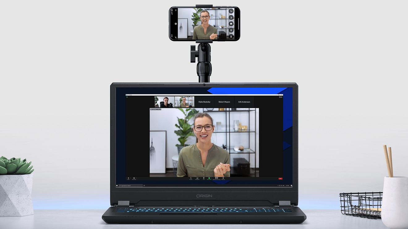 EpocCam Pro is an iOS app that lets you use your iPhone camera for video calls on Mac or PC