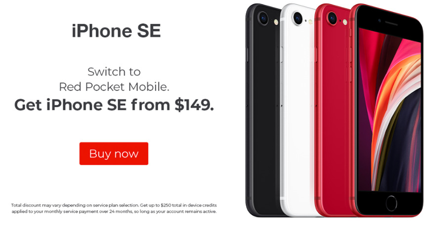 iPhone SE deal at Red Pocket Mobile