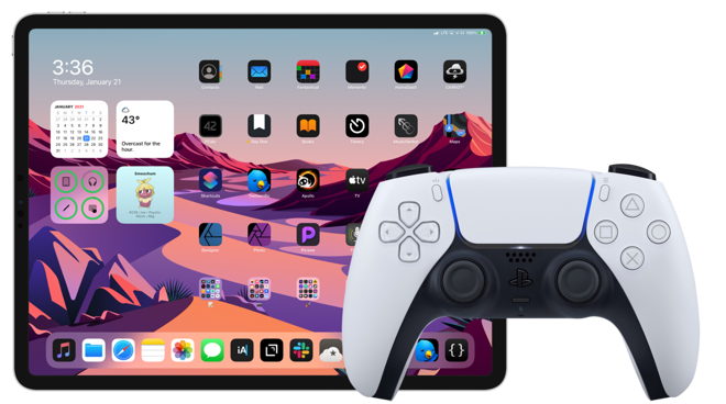 Use the PS5 DualSense controller with iPad
