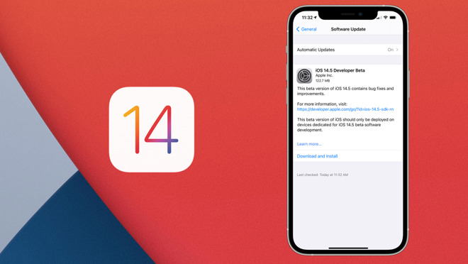 Apple released a new build of iOS 14.5 Beta 1