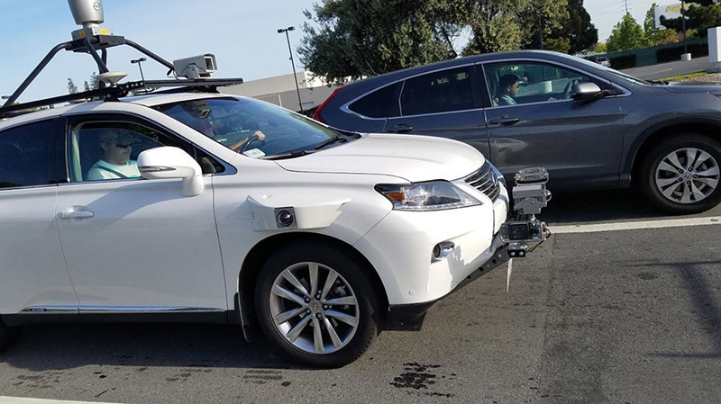 Apple's first official self-driving car tests used the Lexus as the vehicle.