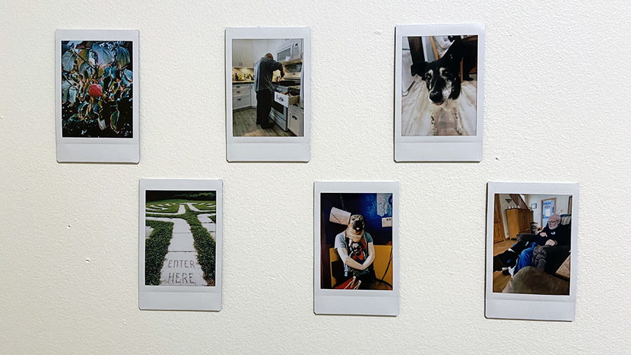 The tiny photos can be hung on a wall, tucked in a card, or placed in an album