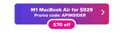 MacBook Air M1 in stock and $70 off