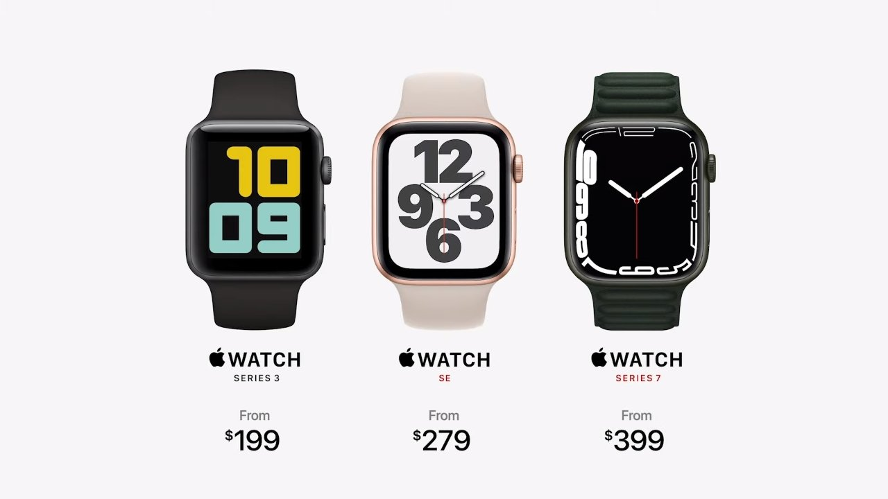 The Apple Watch Series 3 and Apple Watch SE remain in Apple's lineup