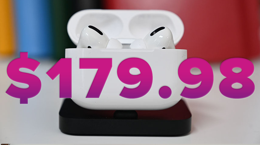 Apple AirPods Pro drop to year's lowest price on Amazon, now $179