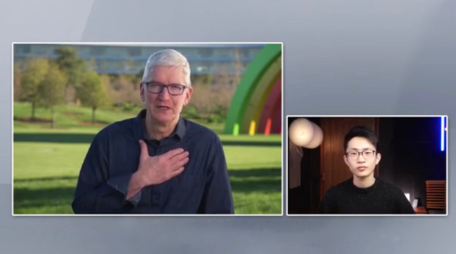 Apple CEO Tim Cook interviewed by Chinese college senior He Shijie
